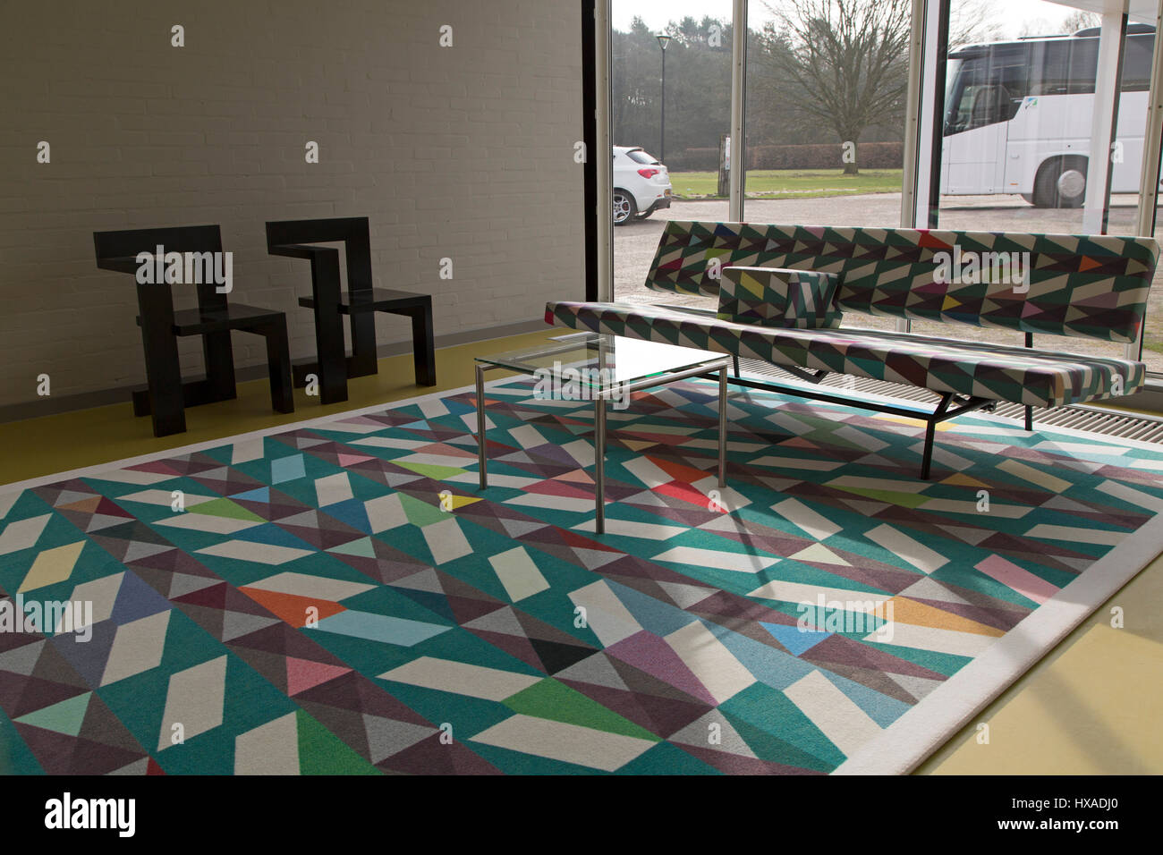 Dutch designed furniture in De Ploeg factory, at Bergeijk in the Netherlands. - Stock Image