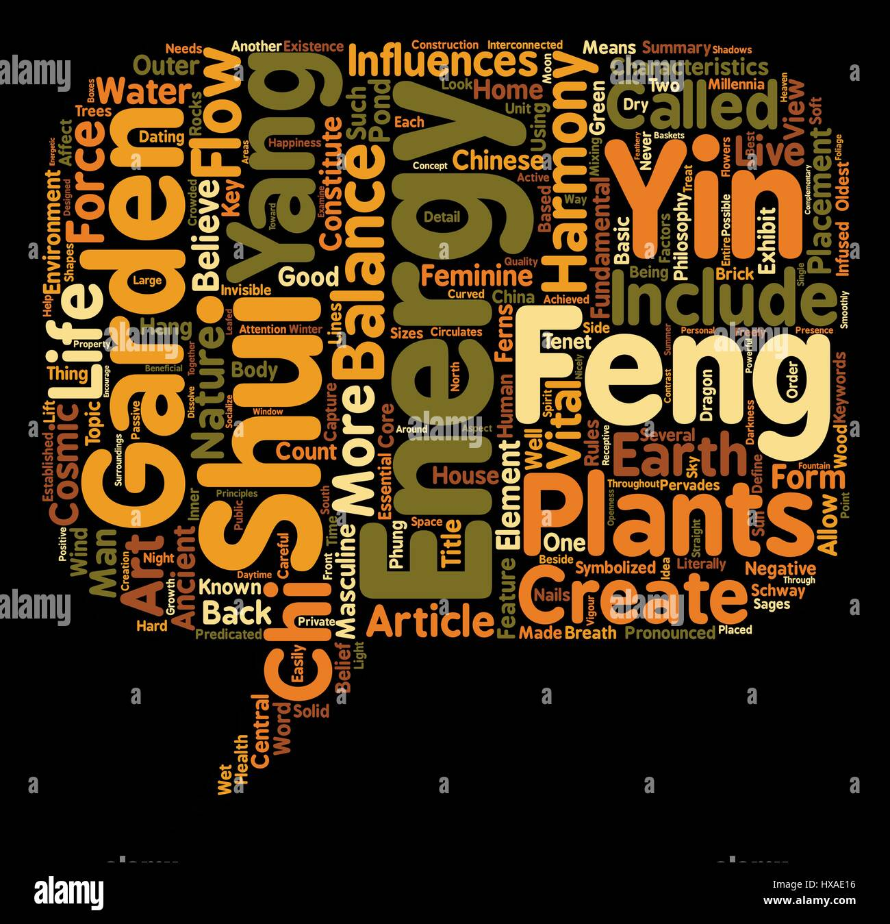 Feng Shui in the Garden text background wordcloud concept Stock ...