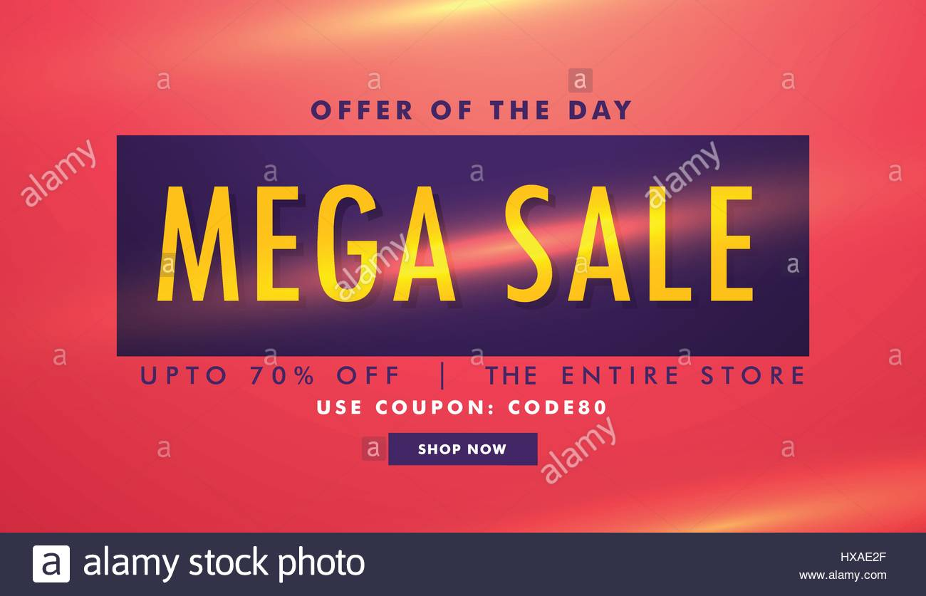 Sale Discount Deal Banner Template Stock Vector Art Illustration Vector Image 136684199 Alamy