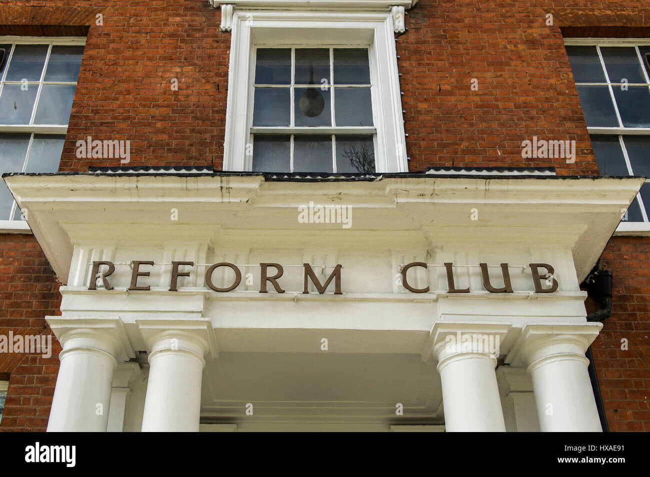 Facade of the Reform Club in Coventry, UK. - Stock Image