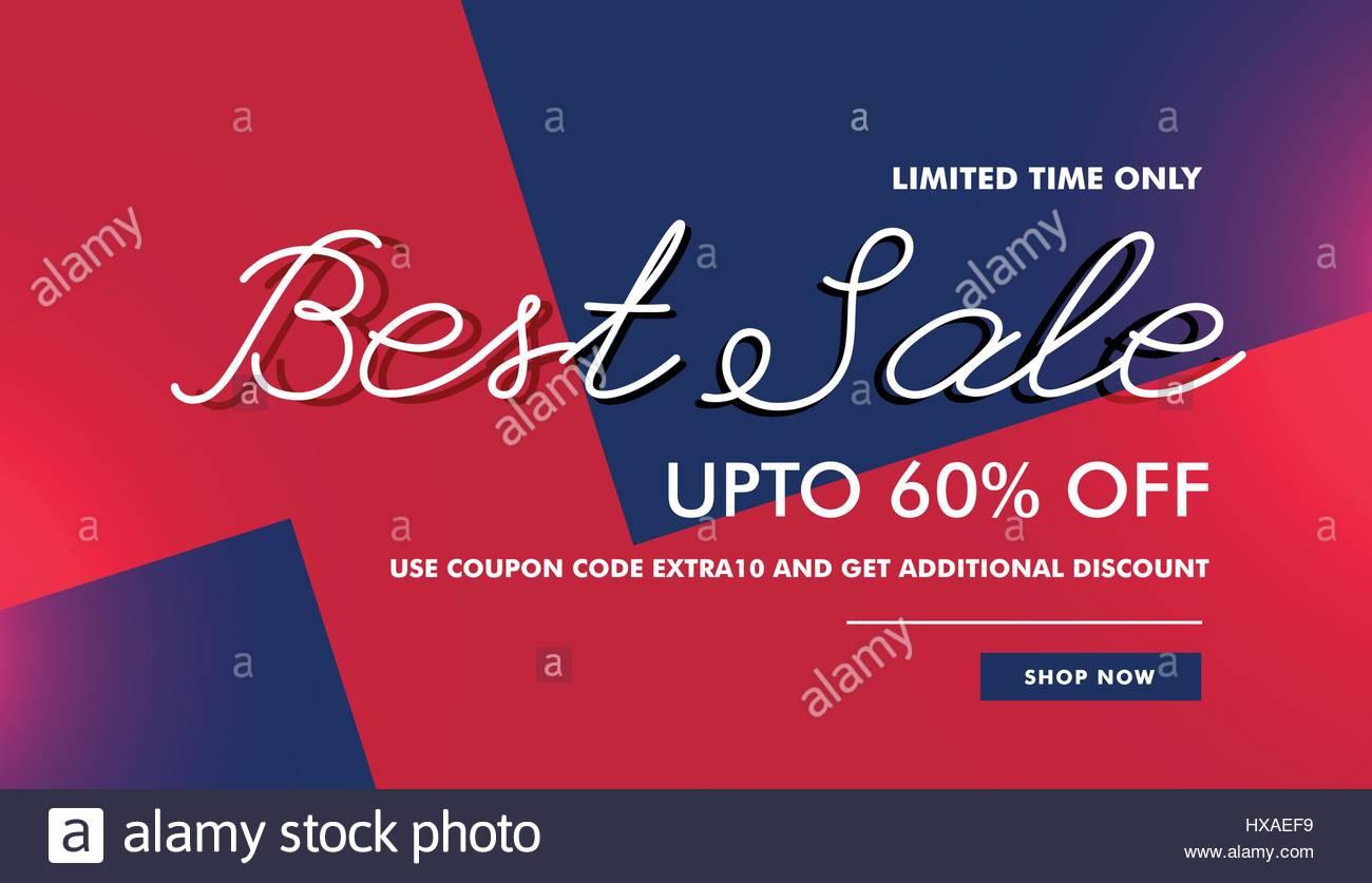 Best Sale Discount Voucher Banner Template Vector Design Background Stock Vector Image Art Alamy