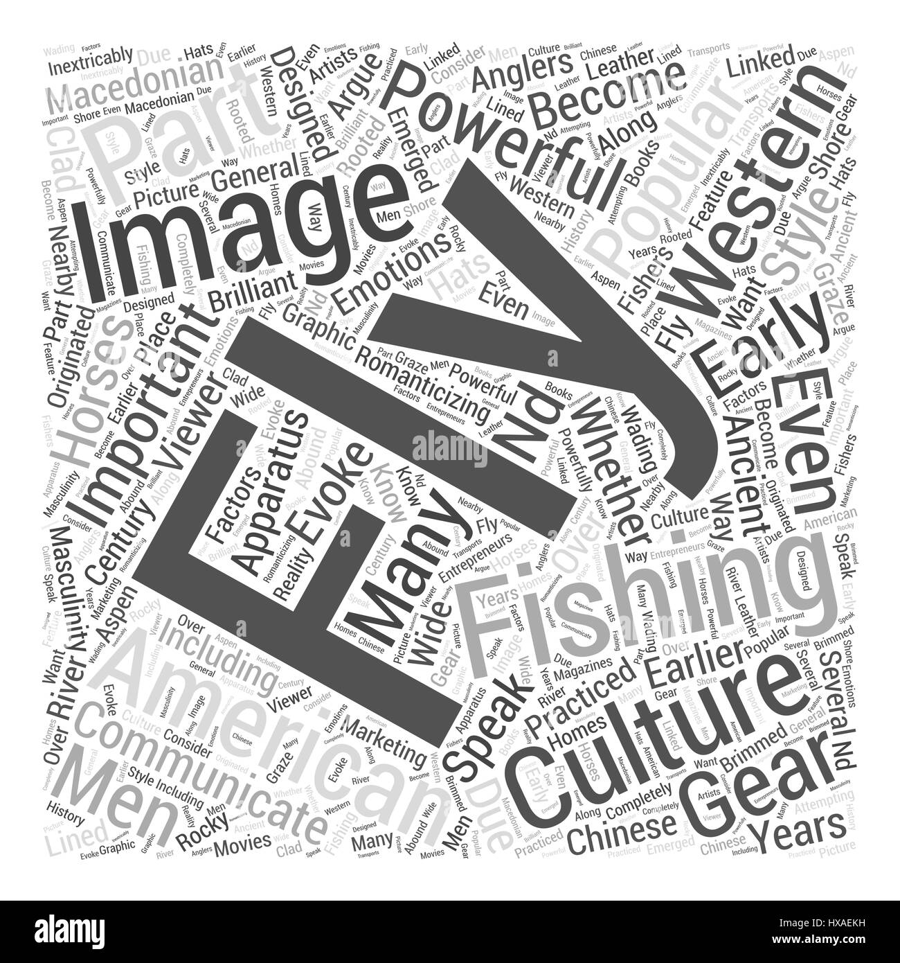 Fly Fishing In Popular Culture Word Cloud Concept Stock