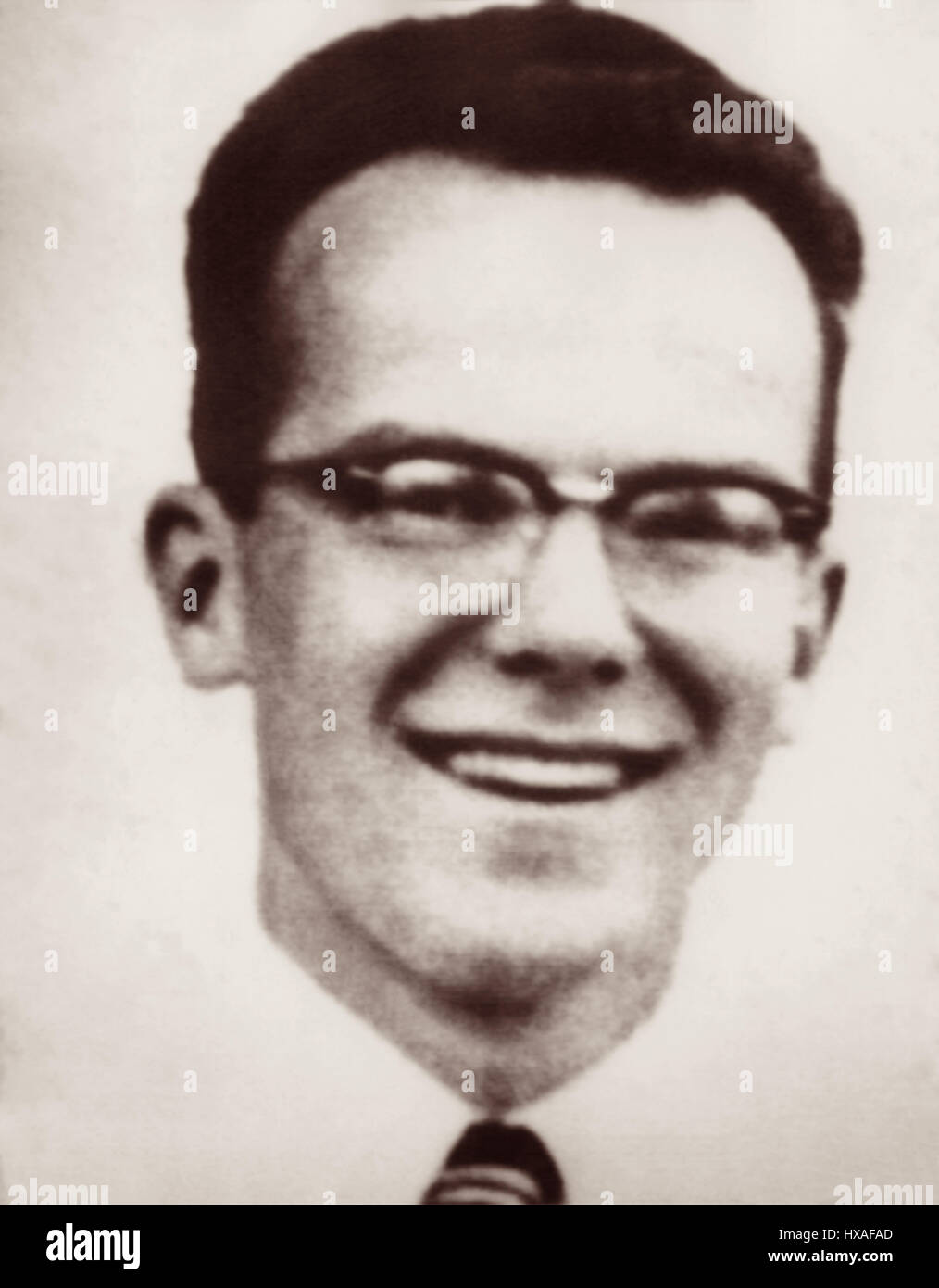 Pete Fleming (1928-1956) was an evangelical Christian who was one of five missionaries killed January 8, 1956 while - Stock Image