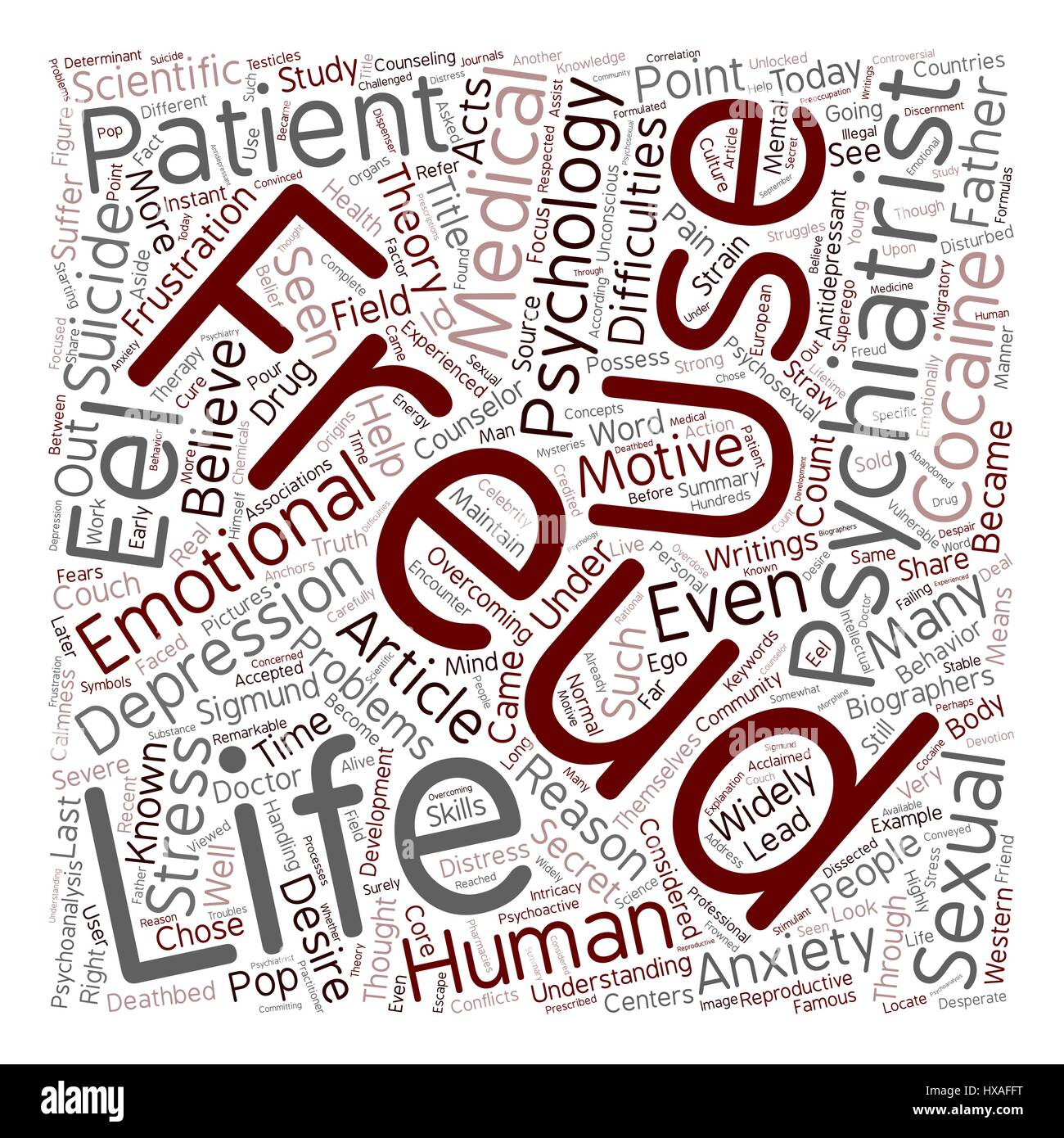 From the Couch to the Deathbed text background wordcloud concept - Stock Image