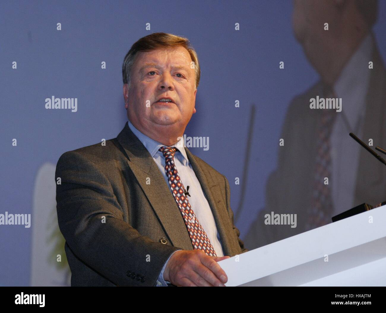 KEN CLARK MP CHAIRMAN OF THE DEOCRACY TASK 02 October 2007 WINTER GARDENS BLACKPOOL ENGLAND - Stock Image
