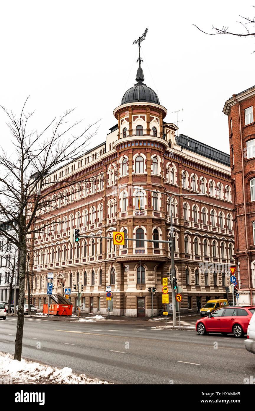 Helsinki Street Scene - Stock Image