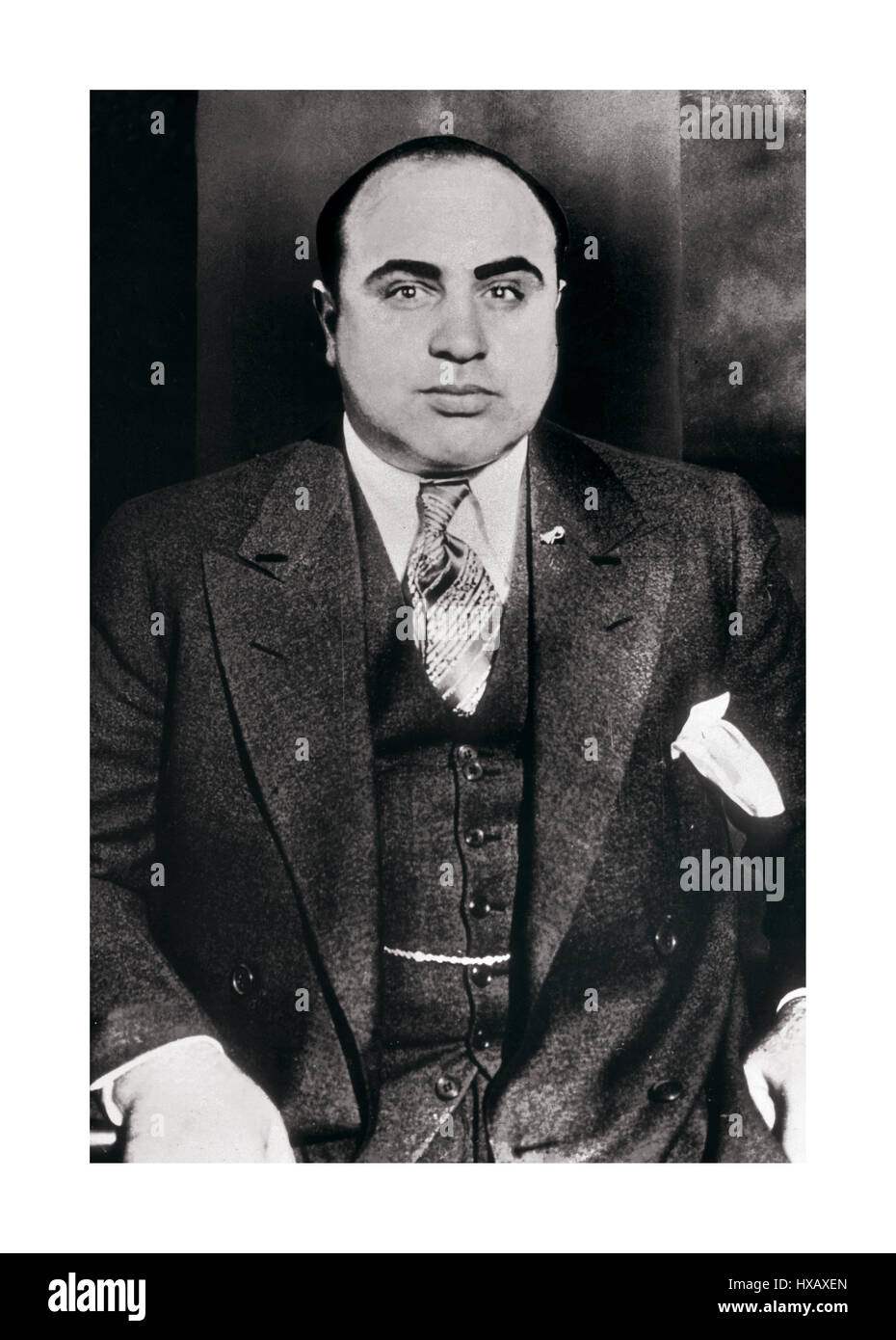 Al Capone the most notorious American Gangster of his era who dominated organised crime in Chicago USA from 1925 Stock Photo
