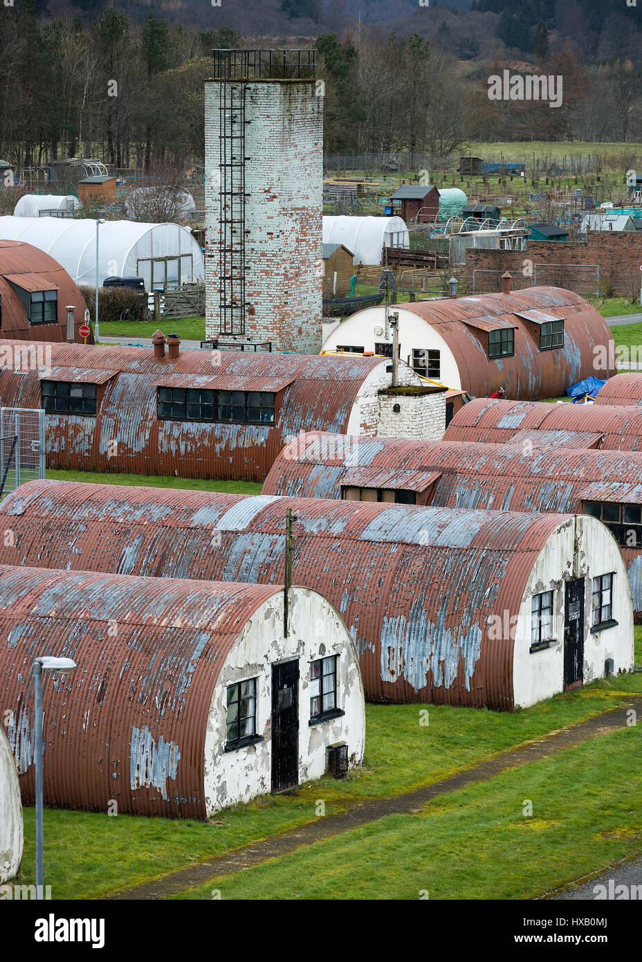 Named PoW camp No 21, built in 1941 to house 4,000 Category A prisoners, Cultybraggan was a 'black camp', - Stock Image