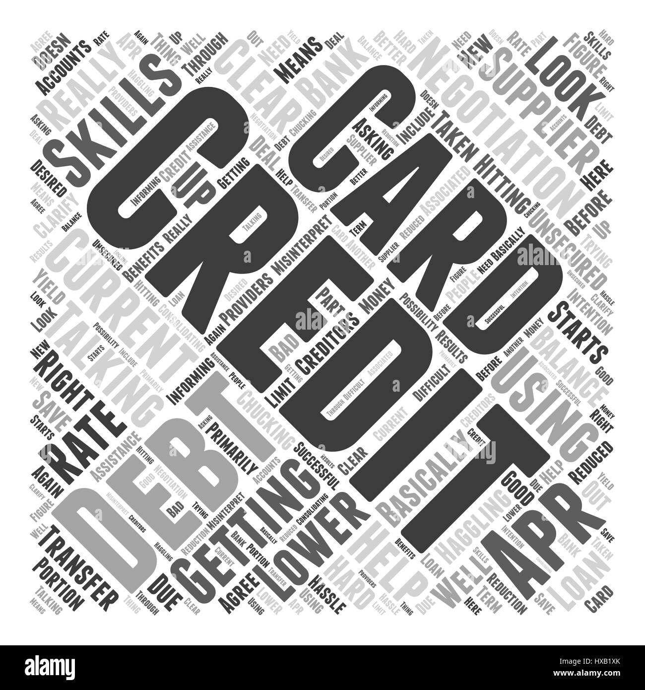 Haggling With Your Creditors Word Cloud Concept - Stock Image