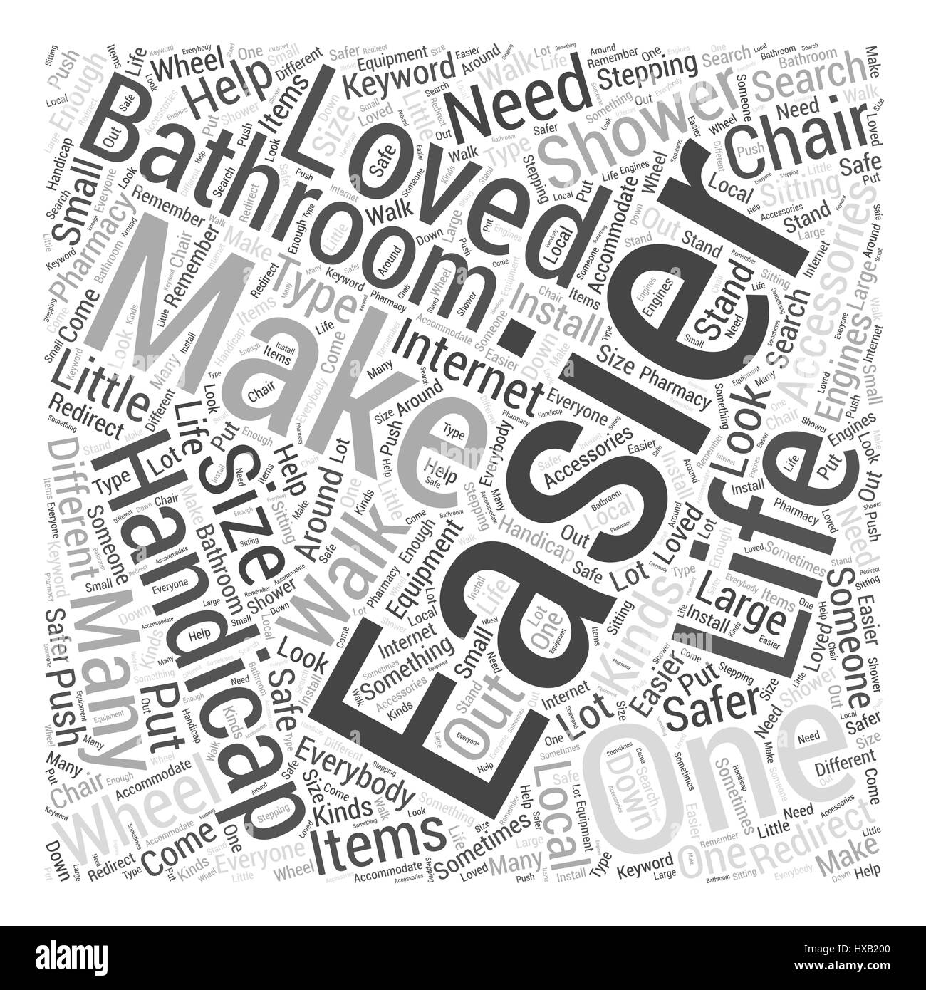 Handicapped accessories for the bathroom Word Cloud Concept Stock ...