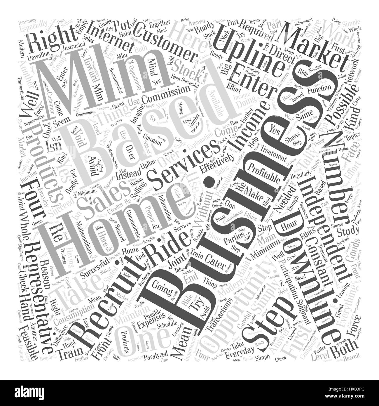 Home Based MLM Business Opportunity Business Word Cloud Concept ...
