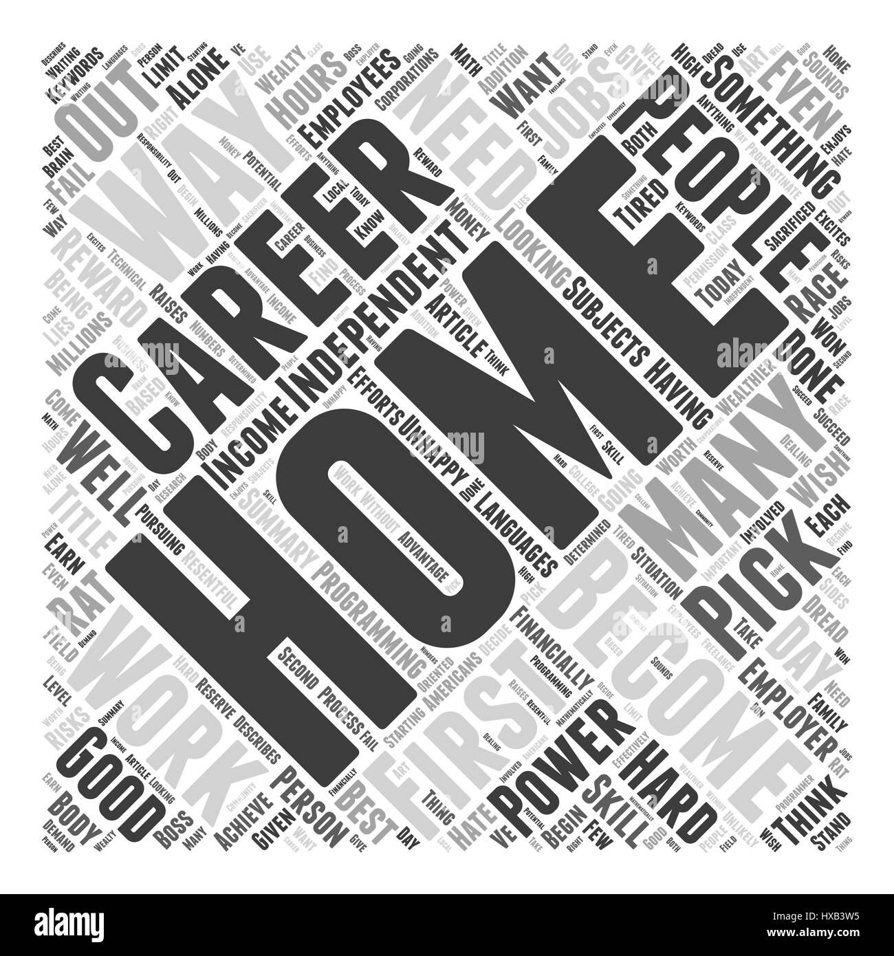 Home Careers Word Cloud Concept - Stock Vector