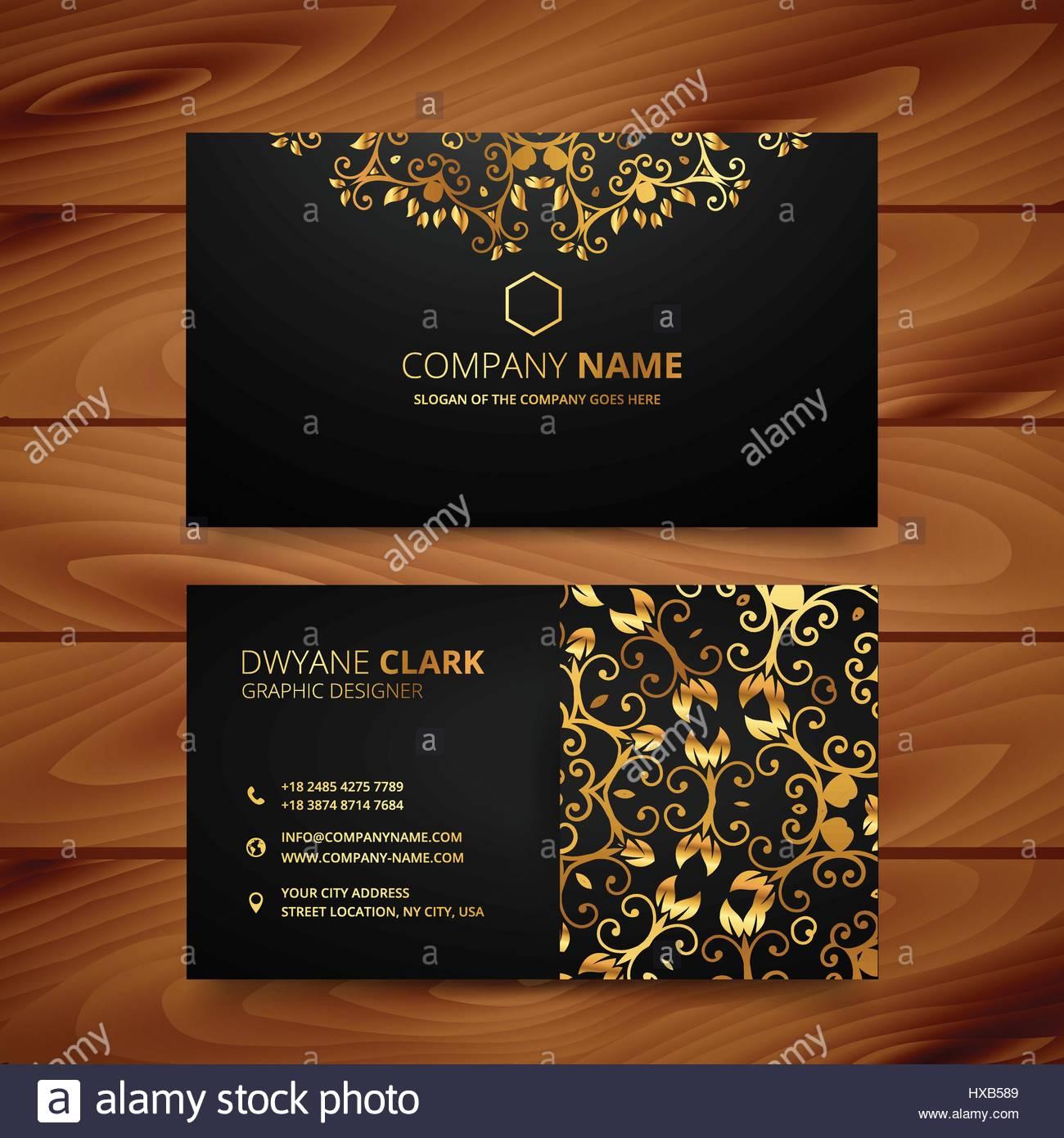 Stylish golden premium luxury business card template design stock stylish golden premium luxury business card template design reheart Images