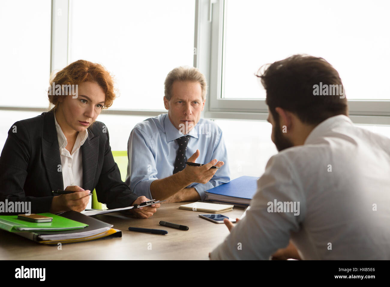 Job interview in office - Stock Image