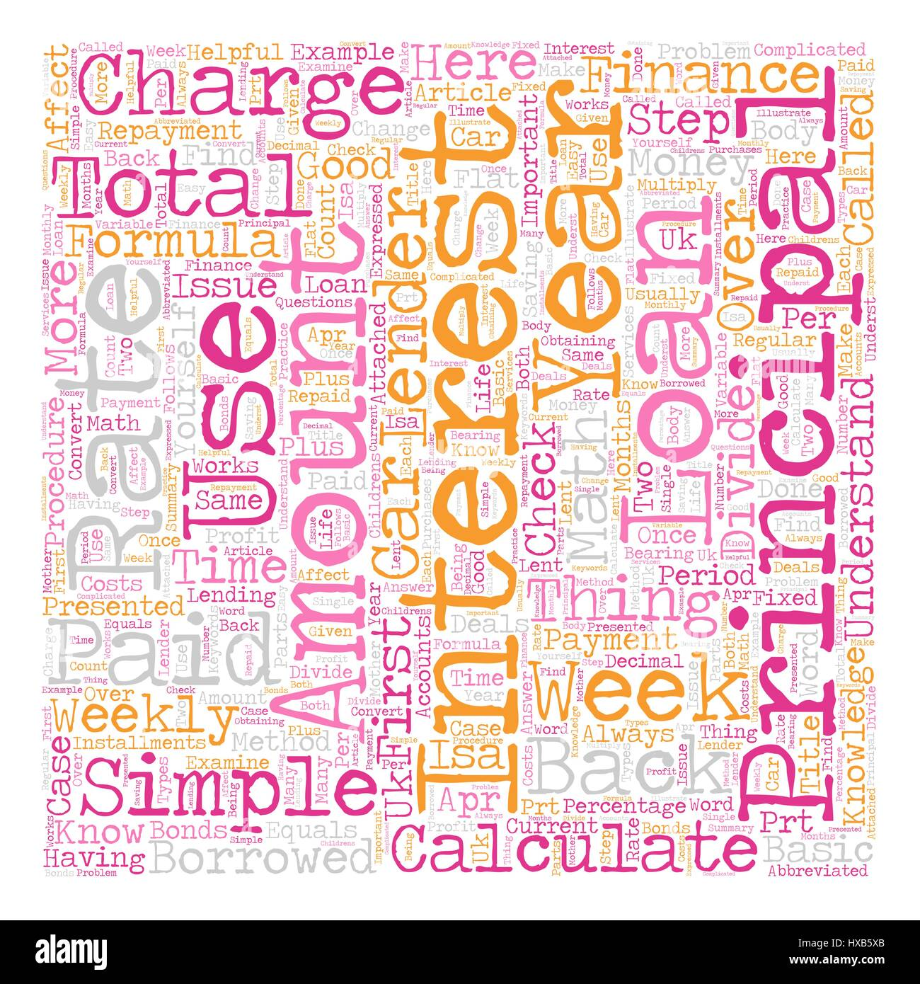 How Do I Calculate Finance Charges text background wordcloud concept - Stock Vector