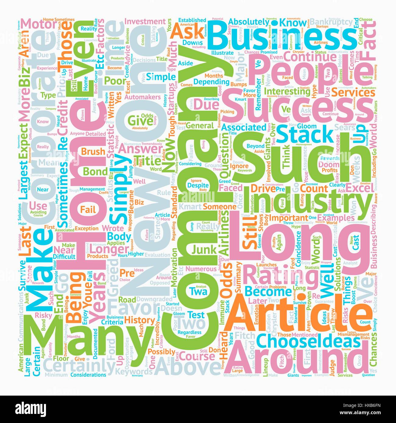 How Long Will Your Home Biz Company Be Around text background wordcloud concept - Stock Image