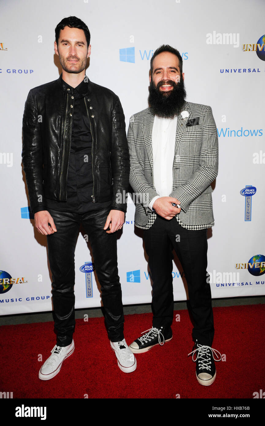 Capital Cities attends the Universal Music Group GRAMMY Afterparty at the Ace Hotel on January 26, 2014 in Los Angeles, - Stock Image