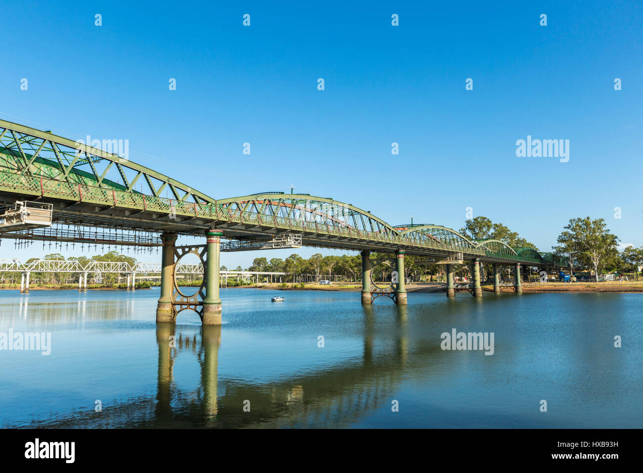 The heritage-listed Burnett Bridge.  Bundaberg, Queensland, Australia - Stock Image