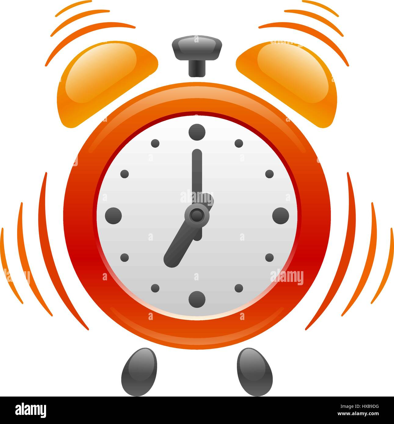 Design of alarm clock with vibration on white background. Its Stock ...