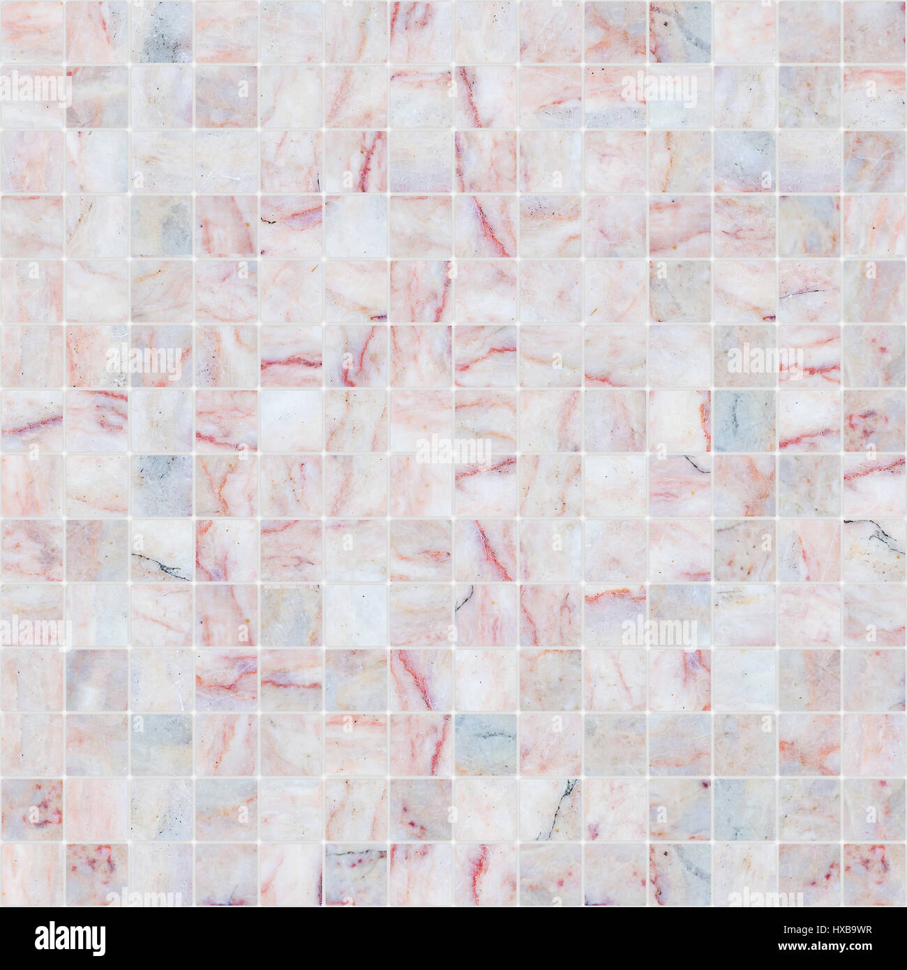 Pink White Mosaic Marble Tile Texture Seamless