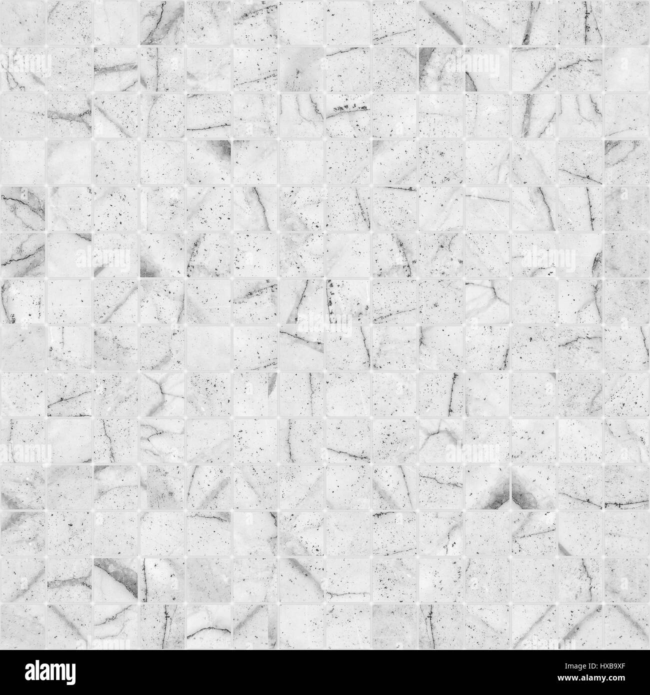 White Mosaic Marble Tile Texture Seamless Stock Photo Alamy