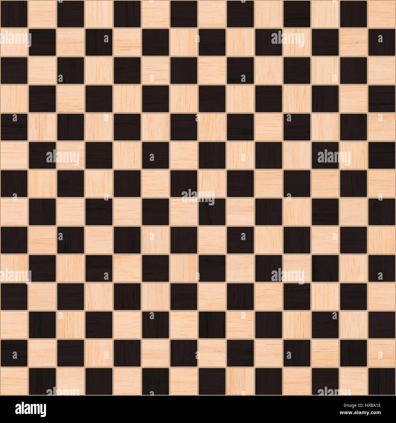 wood checker tile seamless texture Stock Photo