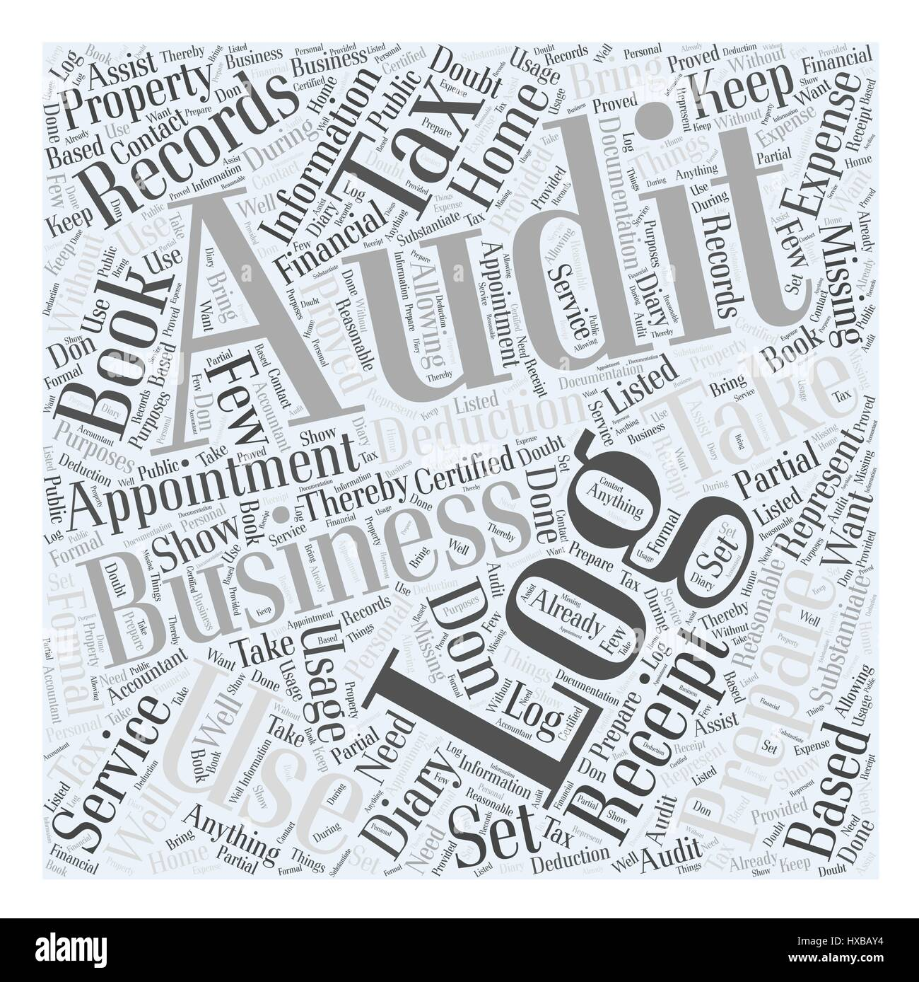 How to Prepare for a Tax Audit Word Cloud Concept - Stock Image