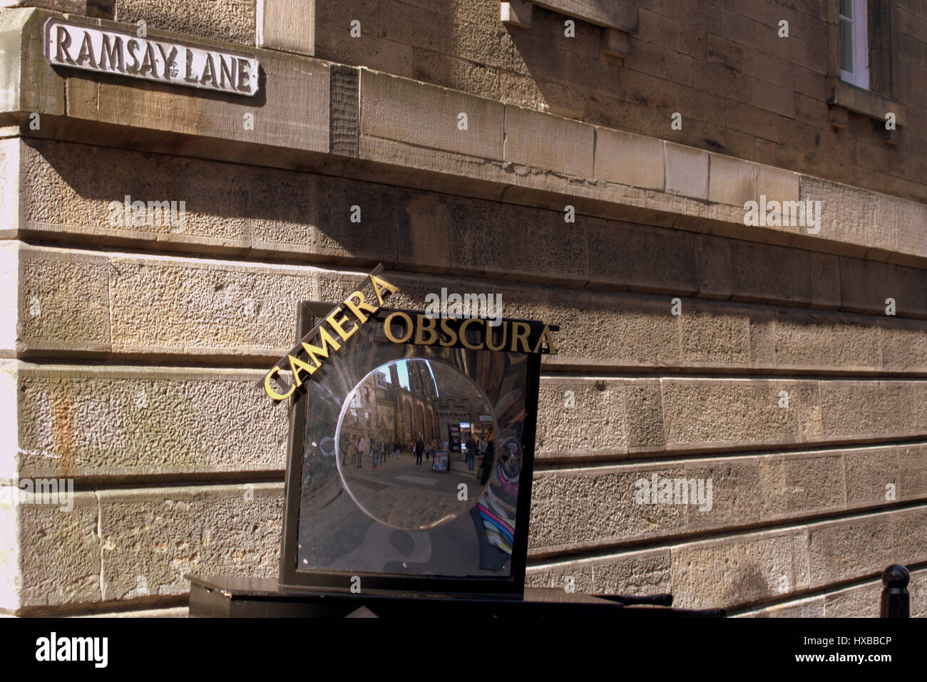 Camera Obscura on the Royal Mile - Stock Image