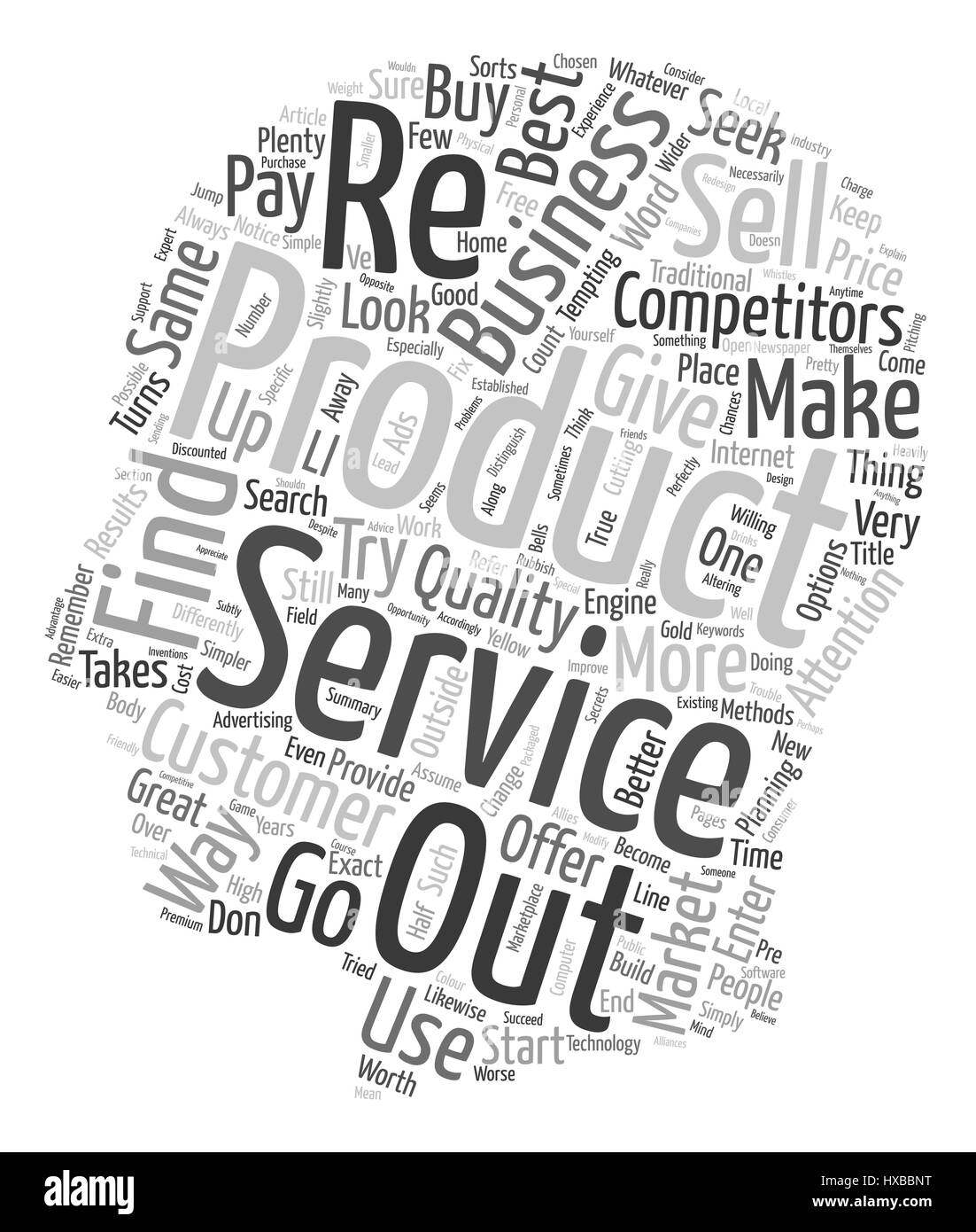 How To Seek Out Your Competitors text background wordcloud concept - Stock Image