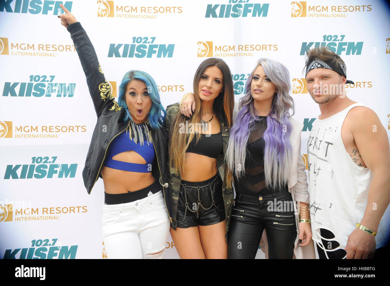 Syd Youth backstage on the red carpet at the 2015 KIIS FM Wango Tango Village Stage at the StubHub Center on May - Stock Image