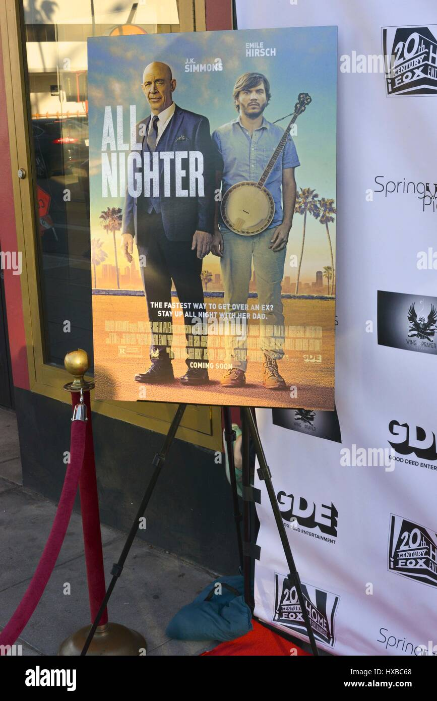 Atmosphere a screening of Good Deed Entertainment's 'All Nighter' at the Leammle Fine Art on March 15, - Stock Image