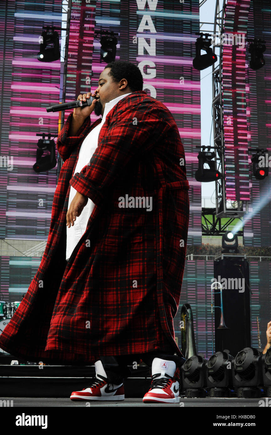Lunchmoney Lewis performs a live concert at the 2015 KIIS FM Wango Tango at the StubHub Center on May 9th, 2015 - Stock Image