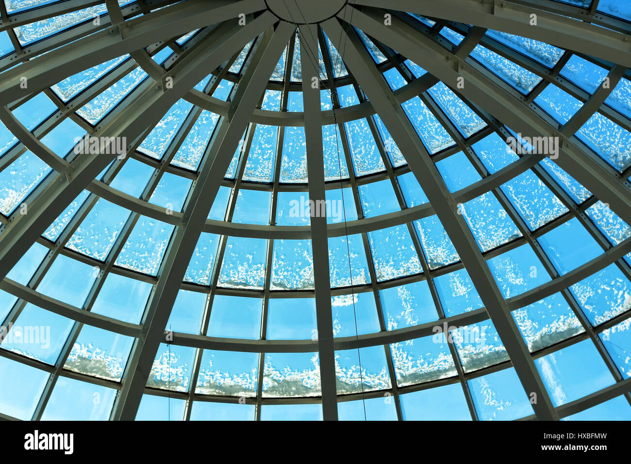 building glass construction roof - Stock Image