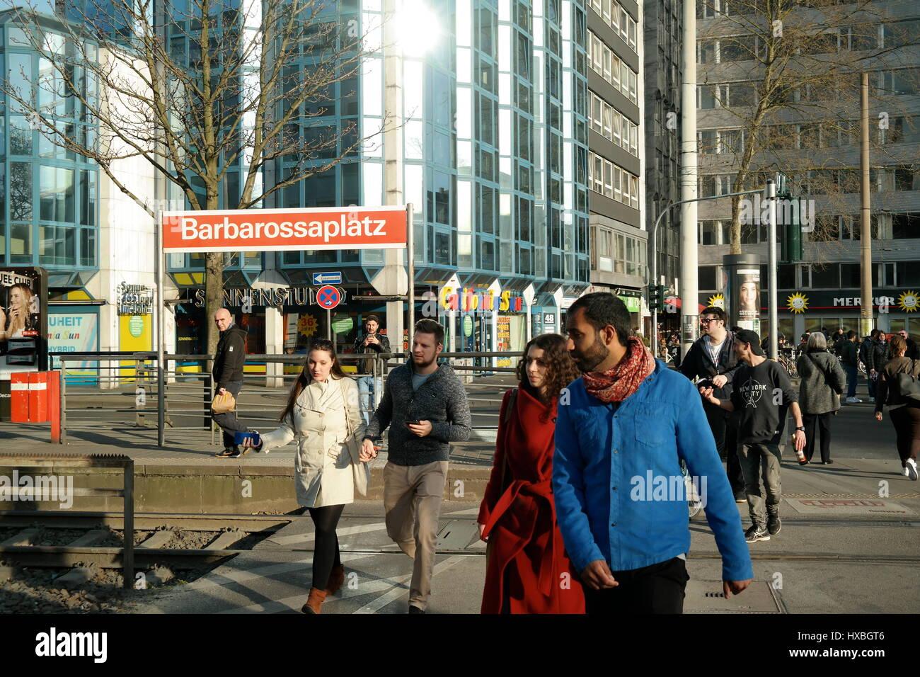 Barbarossaplatz in Köln (Cologne), Nordrhein-Westfalen, Deutschland - Stock Image