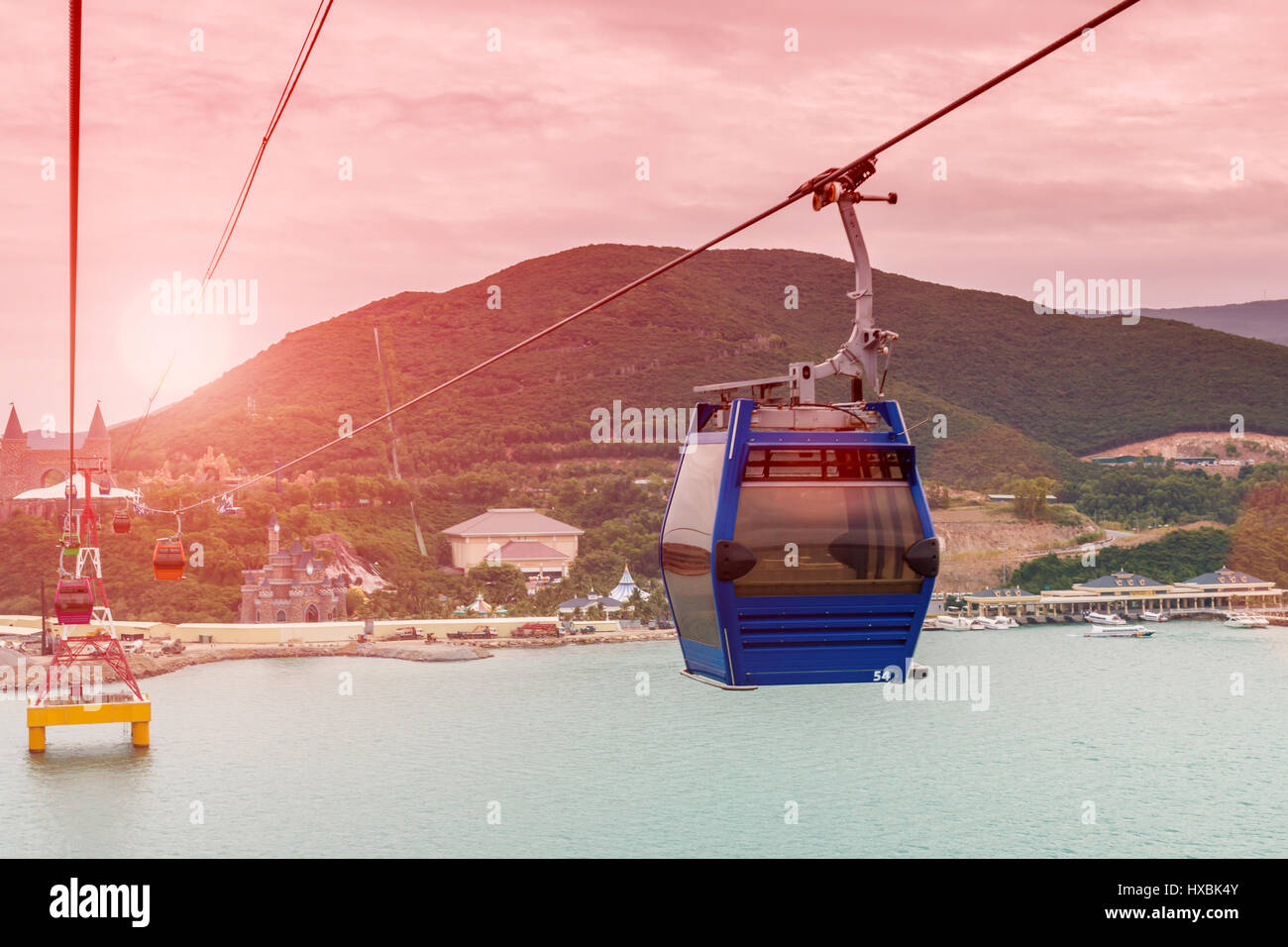cableway leading to Vinpearl - Stock Image