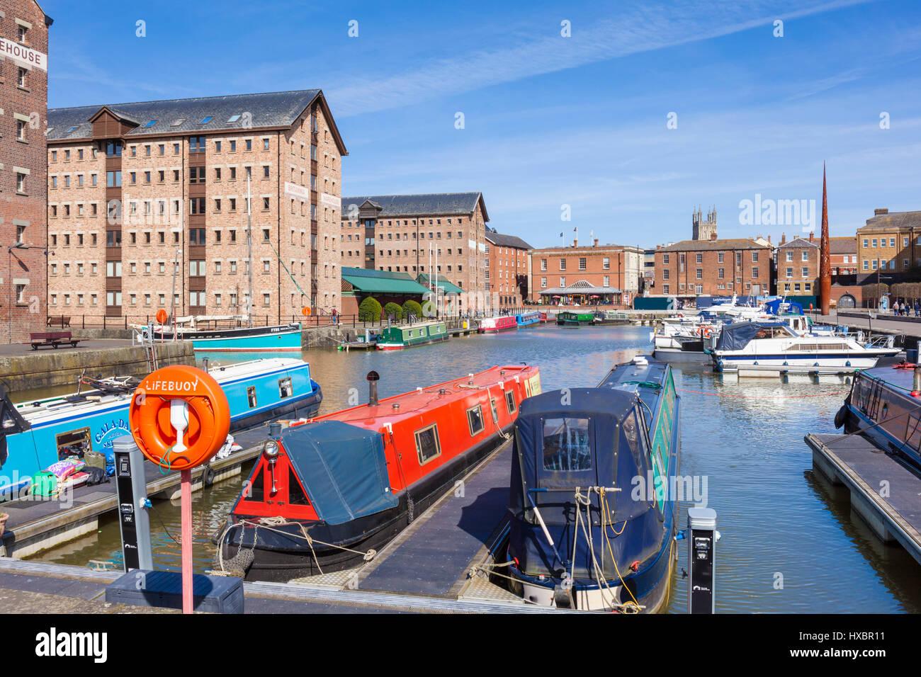 gloucester docks gloucestershire gloucester docks gloucester quays gloucester uk - Stock Image