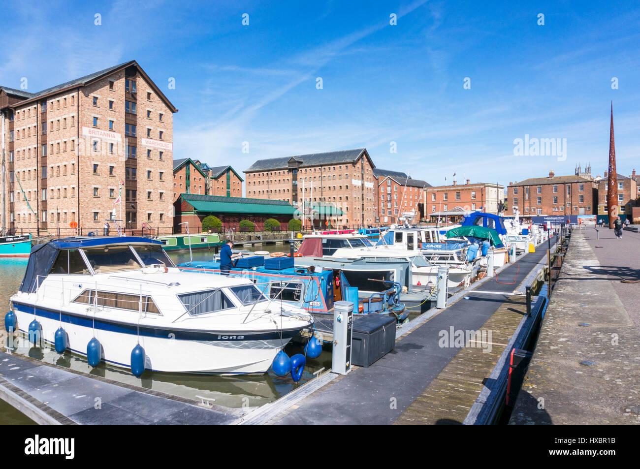 gloucester gloucestershire gloucester docks gloucester quays gloucester uk - Stock Image