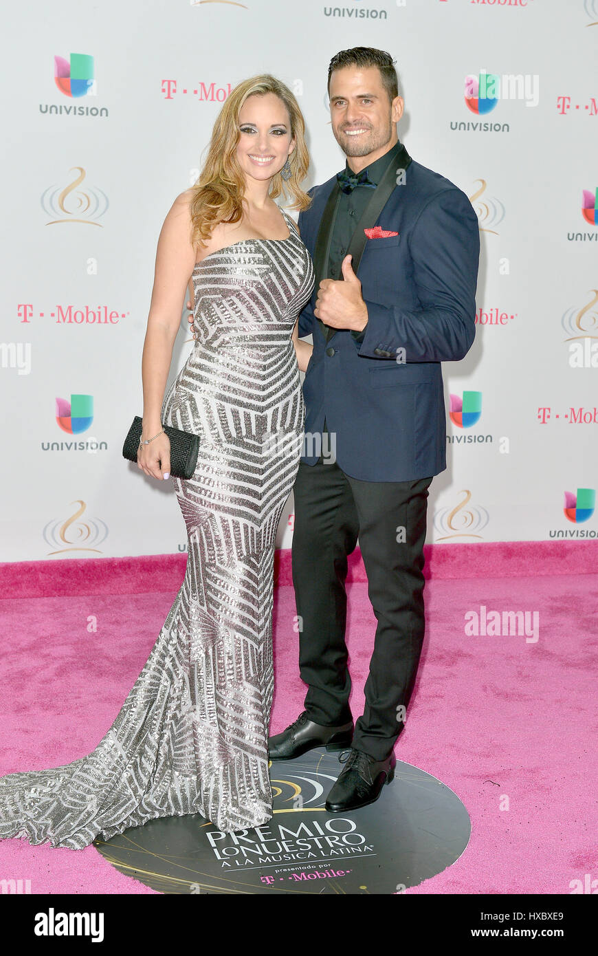 Barbara Estevez And Pedro Moreno Attending Univision S