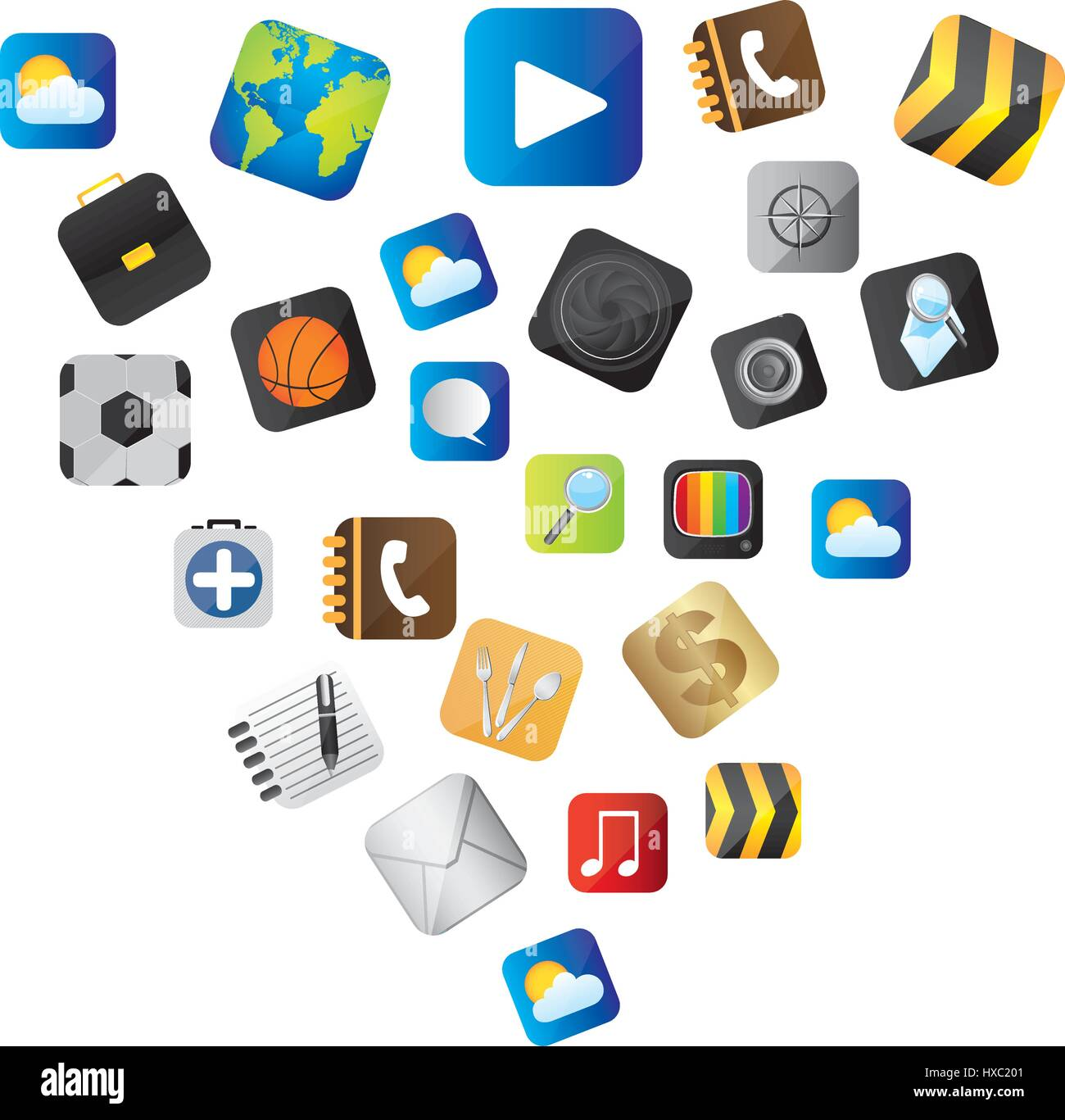 set buttons variety global communicate elements - Stock Image