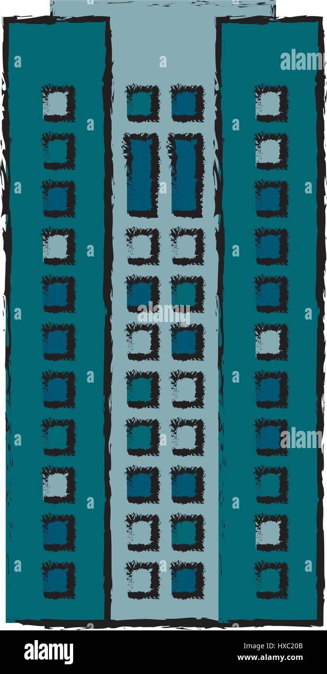 building facade apartment home icon - Stock Vector