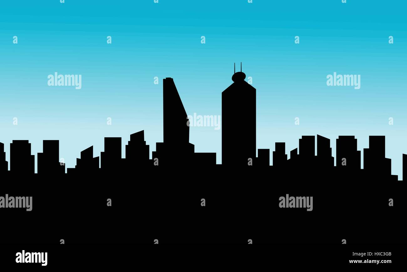 Skyline Silhouette Vector Stock Photos & Skyline