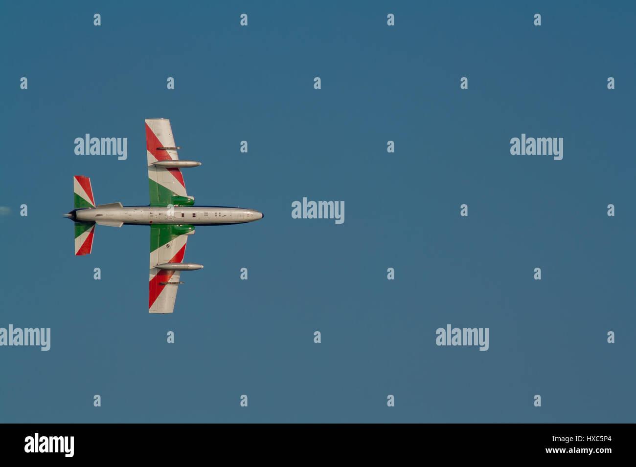 Frecce tricolori jet airshow Stock Photo