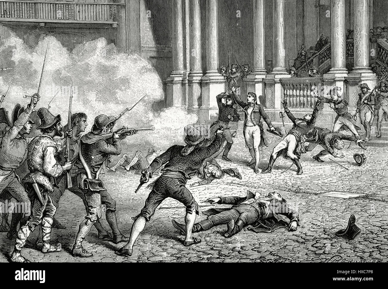 The French Revolutionary Wars (1792-1802). Italian campaign. Rome. Assassination of the French general Leonardo - Stock Image