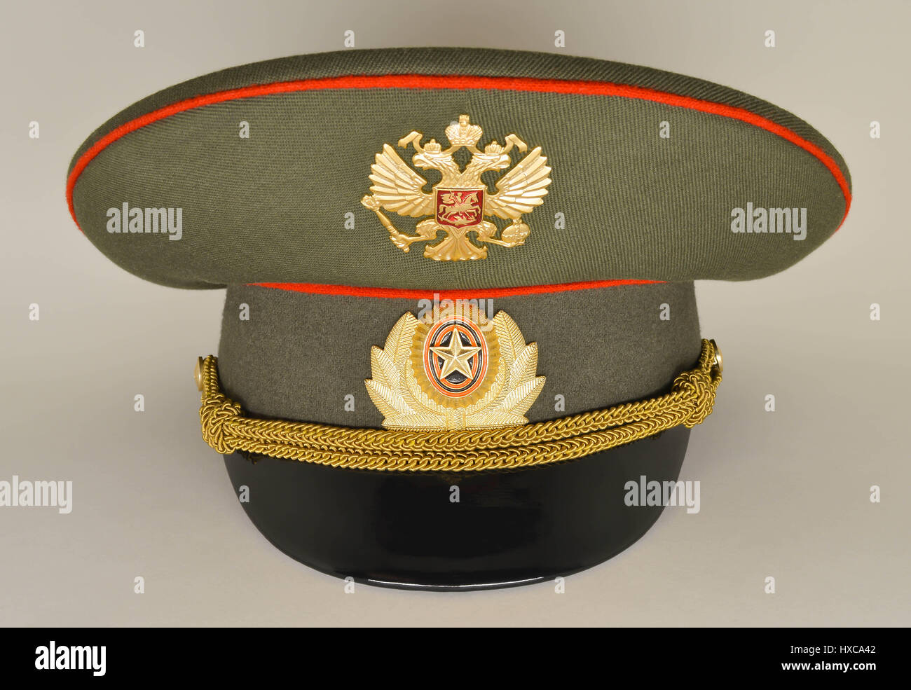 180e04ab8eb01 Russian army military officer cap Stock Photo: 136725010 - Alamy