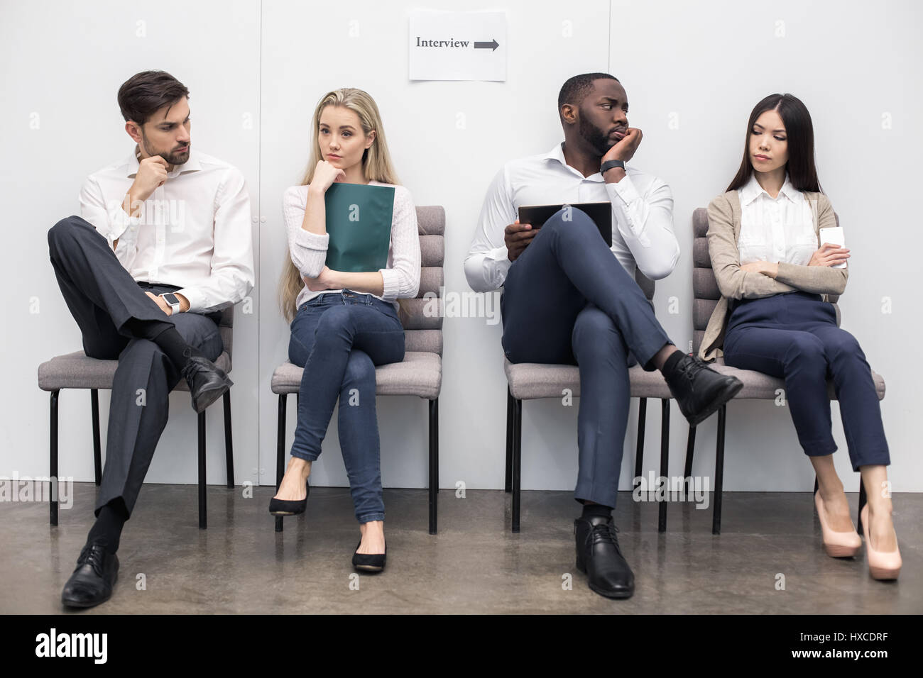 People Waiting for Job Interview Concept - Stock Image
