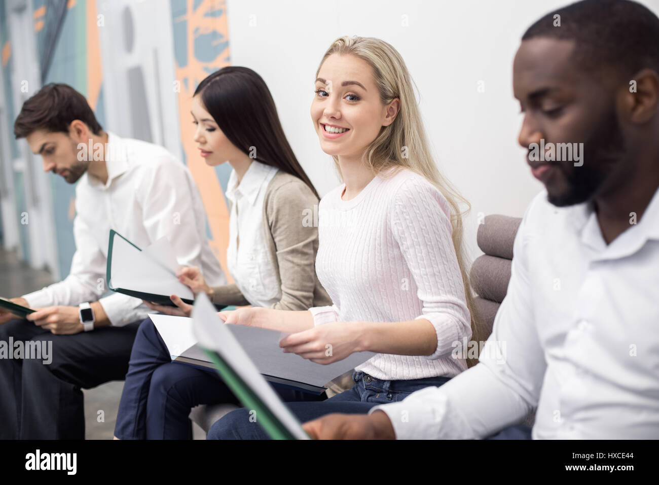 People Waiting for Job Interview Concept Stock Photo