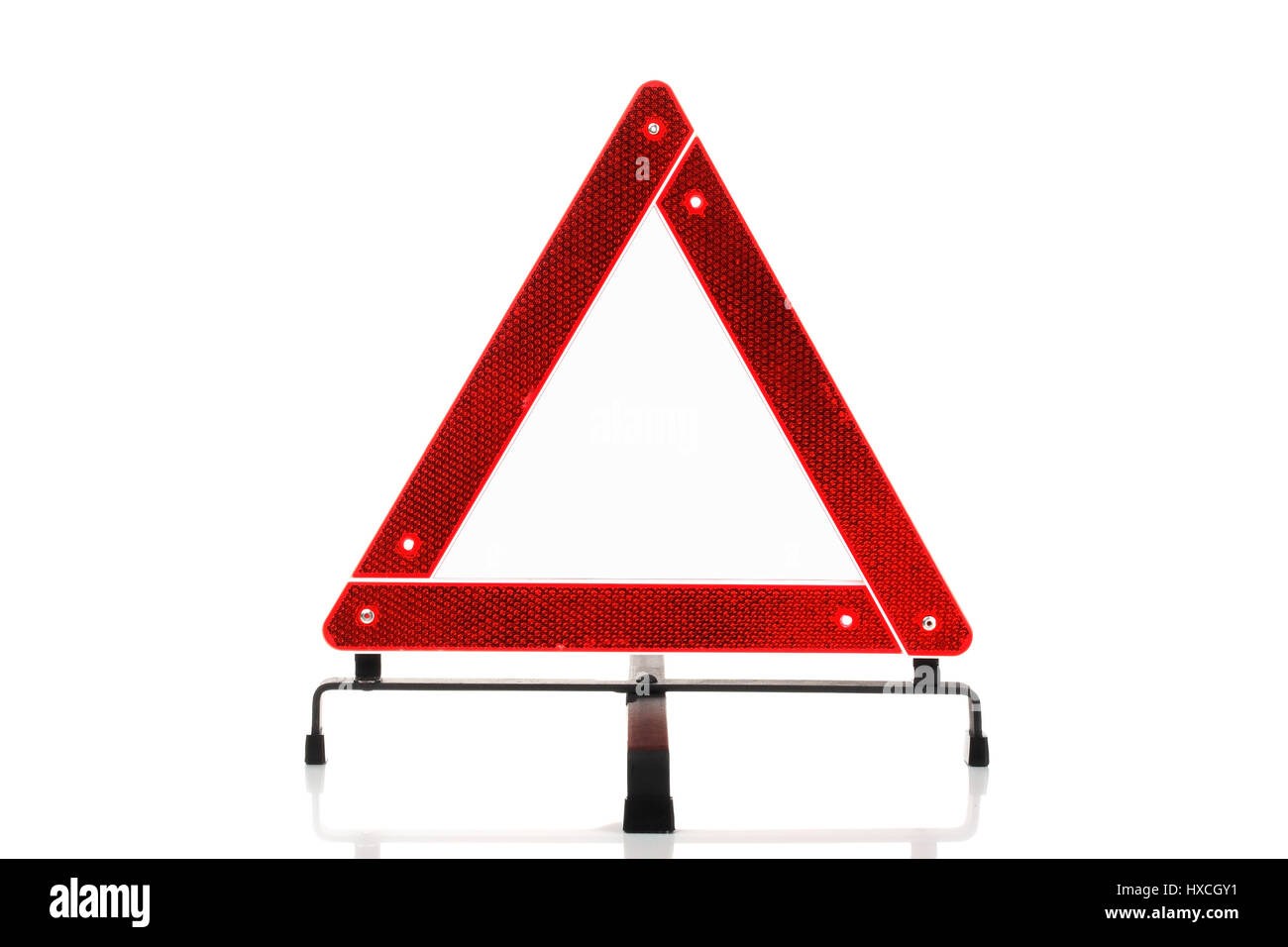 Warning triangle, Warndreieck Stock Photo