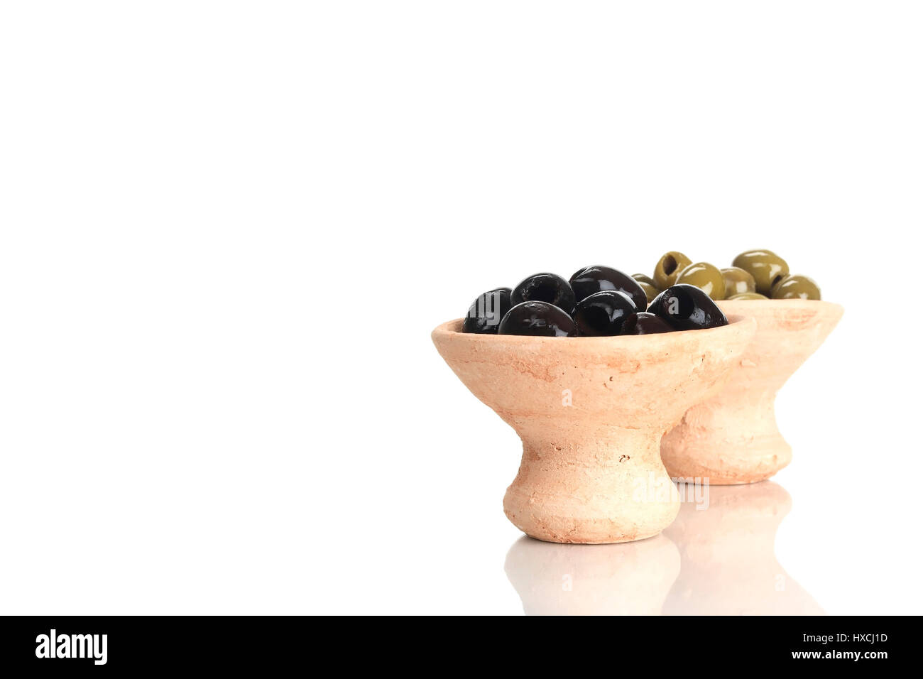 Dished Plates With Olives Schälchen Mit Oliven Stock Photo