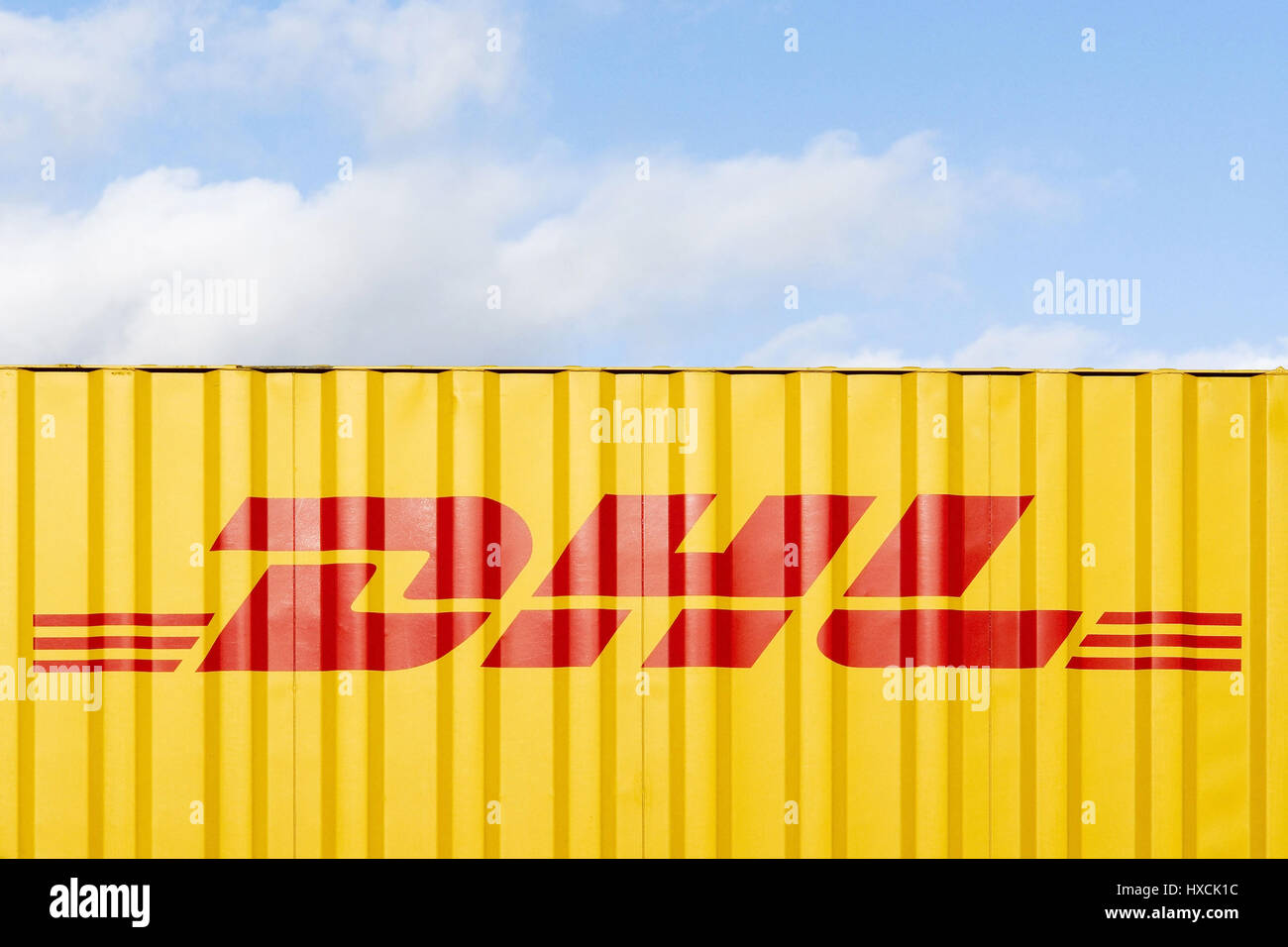 DHL container, DHL Container Stock Photo