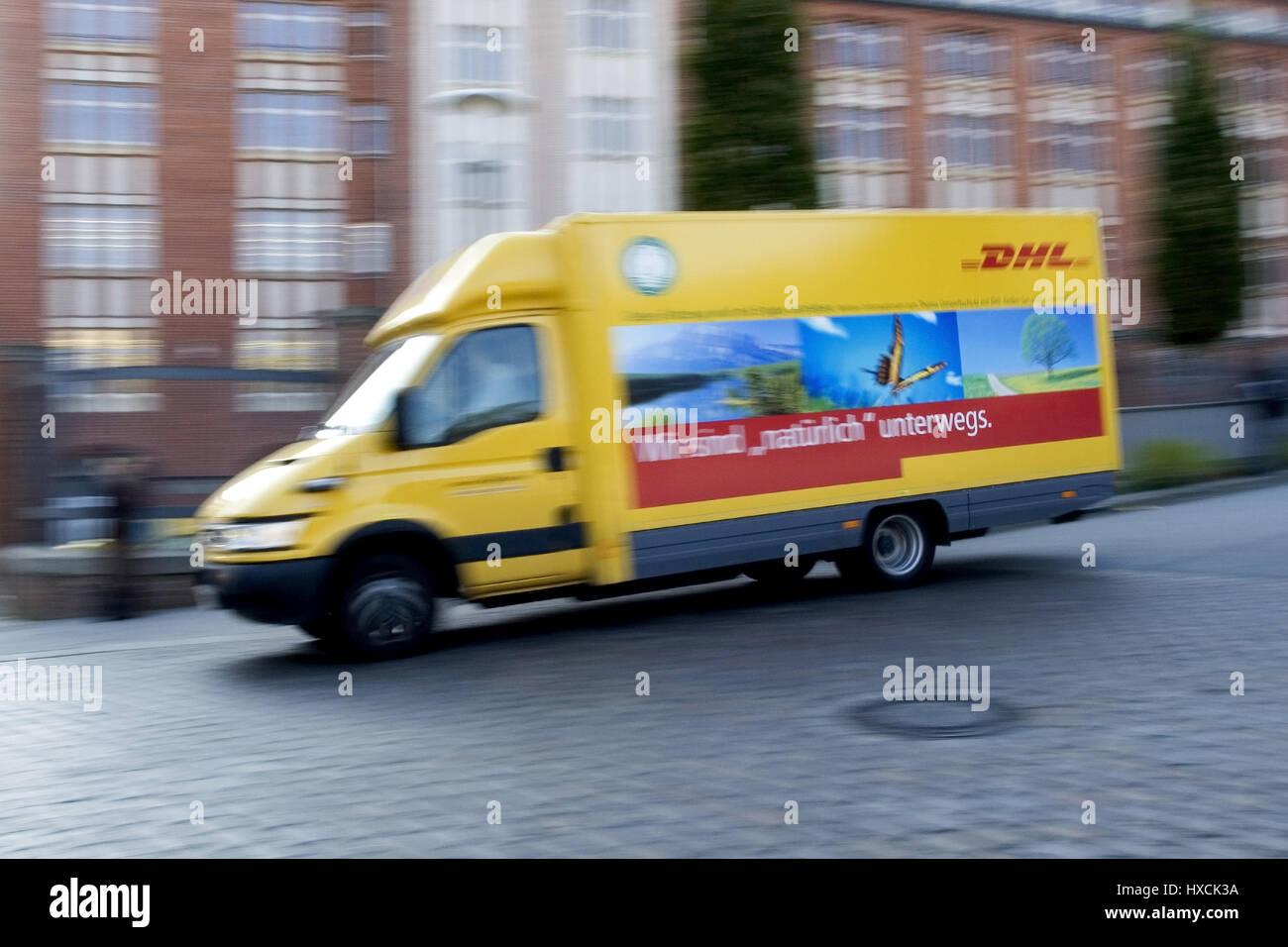 DHL delivery vans, DHL Lieferwagen Stock Photo